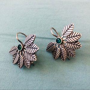 .925 Sterling Silver Leaf Earrings